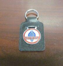 Cobra Black Leather Key Fob