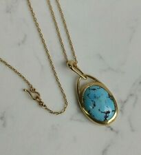 Ten Thousand Things 18k Turquoise Large Pendant Necklace