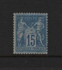 "FRANCE YVERT 90a SCOTT 92b "" PEACE COMMERCE SAGE 15c BLUE BLUISH "" MNH VF T844"