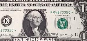 Wow Star note 1969 $1 DOLLAR BILL ( Dallas K ) ,UNCIRCULATED