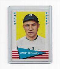 Stanley Coveleskie 1961 Fleer Baseball Greats Card #100 Cleveland Indians