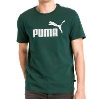 Puma Essentials 853400 Green T-Shirt Male Mens T Shirt Tee Logo Top Bnwt - New