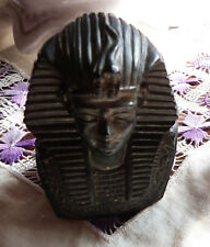 REPRODUCTION BUSTE ROI EGYPTIEN/RESINE AVEC SIGNATURE