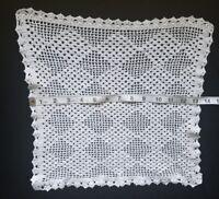 """A20 13.5"""" Vintage Crochet Table Doily Doilies Home Decor Table Center Piece Prim"""