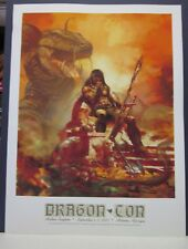 Lair of the Dragon by Art Suydam 2005 Dragoncon Print Signed by Suydam    Conan.