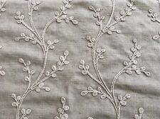Voyage 'Sevati' Embroidered Large Fabric Remnant, Neutral, Beige, Marble