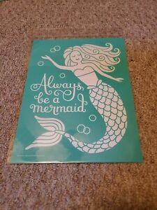 Chalk Couture Transfer, Always Be a Mermaid! RETIRED HTF size B