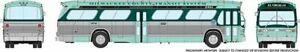 HO 1:87 Rapido # 703037 - 60s-86 GM New Look-Fishbowl Bus - Milwaukee County 201