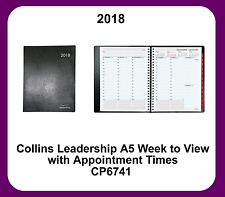 Collins 2018 A5 Leadership Week to View (Appointments) Wiro bound Diary - CP6741