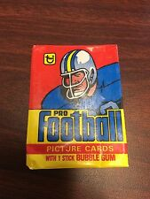 1978 TOPPS FOOTBALL CARD WAX PACK WRAPPER Complete you set SHARP!!