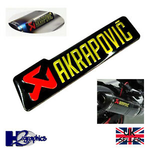 Akrapovic 3D Motorcycle Exhaust Sticker Heat Resistant Aluminium 140 x 40 Decal