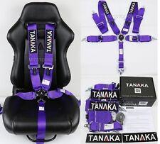 "1 TANAKA PURPLE 5 POINT CAMLOCK RACING SEAT BELT HARNESS 3"" SFI 16.1 CERTIFIED"