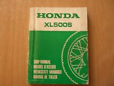 Taller de manual de honda XL 500 s shop manual taller manuel d Atelier