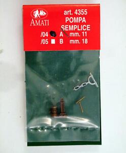 Amati 4355/04 Pompe Simple Metal Pump Modélisme