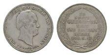MGS SACHSEN KÖNIGREICH Friedrich August II. 1/6 Taler 1854 ss+