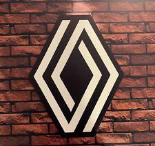 Enseigne Plaque Décorative nouveau logo RENAULT épaisseur 5 mm ( 60 cm x 47 cm)