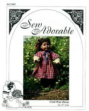 "Sew Adorable Doll Clothes Pattern, fits 18"" American Girl. Civil War Dress"