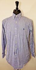 Ralph Lauren Mens Shirt 15-32/33 Classic Fit Casual Striped button front blue