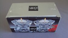 Mikasa Sparkling Star Votive/Taper Candle Holders QQ227/339 New In Box New