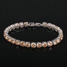 New Holiday Party Friendship Girls Jewelry Champagne Topaz Gems Silver Bracelets