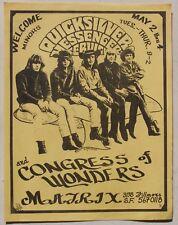 1967 Quicksilver Messenger Service at the Matrix, San Francisco Concert Handbill
