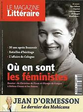MAGAZINE LITTERAIRE N°566 AVRIL 2016 FEMINISTES/ D'ORMESSON/ BEAUVOIR/ COREE SUD