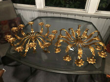 Vintage Italian Chandelier Gold Gilt NOS Made in Italy