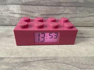 Lego Pink Brick Light Up Alarm Clock