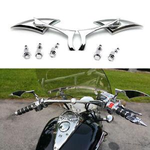 Chrome Motorcycle Rearview Mirrors For Honda VTX1300C VTX1300S VTX1800C VTX1800R