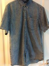 Burton Men's Stonewash Fitted Shirt Size Large Great Condition