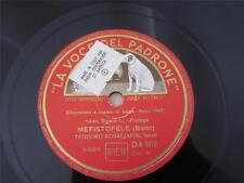 LA VOCE DEL PADRONE 78 RECORD DA 962 ITALY MEFISTOFELE TEODORO SCHALJAPIN