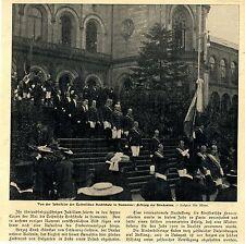 Jubelfeier z. 75jähr.Jubiläum der TH Hannover * Studenten * Bilddokument 1906