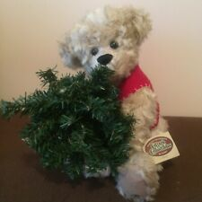 Cottage Collectibles Chris Bear by Ganz Sue Cole 1999 Christmas Tree With Tags