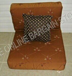 Frontgate Metropolitan Outdoor Sofa Chair Cushions Lamont lattice Rust Org 25x29