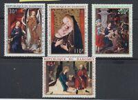 Dahomey 1969 Christmas Paintings Sc C109-C112  mint never hinged