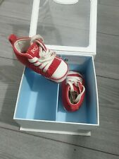 Ralph Lauren Baby Boys Red Crib Shoes - UK Size 0.5 GREAT CONDITION!