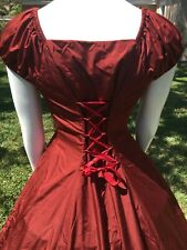 Civil War Reenactment Red Ball Gown