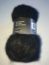 10 ovillos lana mohair color:negro - magnífico