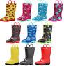 Norty Toddlers Little Big Kids Boys Girls Waterproof PVC Rain Boots - 10 Colors