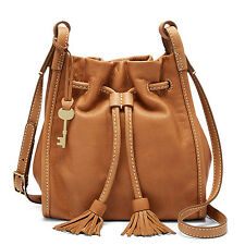 Fossil Authentic ZB7249216 Claire Small Drawstring Sanddle Leather Women' Bag