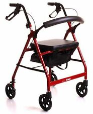 Lightweight Aluminium 4 Wheeled Rollator Walking Frame Walker With Seat