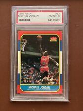 MICHAEL JORDAN PSA 8 1986-87 FLEER BASKETBALL #57 ROOKIE RC BULLS HOF