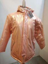 Damen-Jacke rose, Gr. 38, Polyurethan Besch, Baumwoll Futter, Füllung Polyester