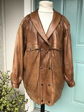 Begedor Italian Leather Retro 80's Jacket Coat, Sz M
