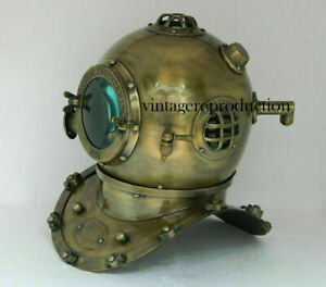 Antique Anchor Scuba Boston Divers Diving Helmet US Navy Mark Deep Marine Diver