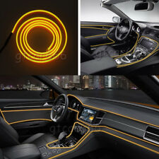 3M Car LED EL Wire Yellow Cold Light Line Neon Lamp Interior Atmosphere Strip