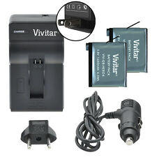 Vivitar Dual Battery AHDBT-401 & Charger Kit for GoPro HERO4