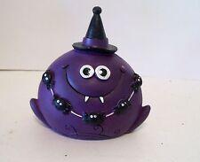 Purple Vampire Spider Resin Figurine Halloween Harvest Autumn Decoration