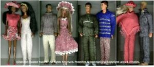 """Machine Knitting Patterns for  outfits for 11-12ins dolls """"Day Wear 1"""""""