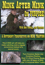 DVD, Powell-MINK AFTER MINK on PURPOSE!  trapping, traps, trap, water trapping